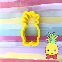 Pineapple Bow Tie Cookie Cutter - Periwinkles Cutters LLC