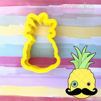 Pineapple Mustache Cookie Cutter - Periwinkles Cutters LLC