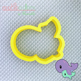 Whale Mom and Baby Cookie Cutter - Periwinkles Cutters LLC