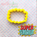 SUPER TEACHER Plaque Cookie Cutter