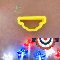 Round Flag Banner Cookie Cutter - Bunting