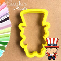 Uncle Sam Cookie Cutter - Periwinkles Cutters LLC