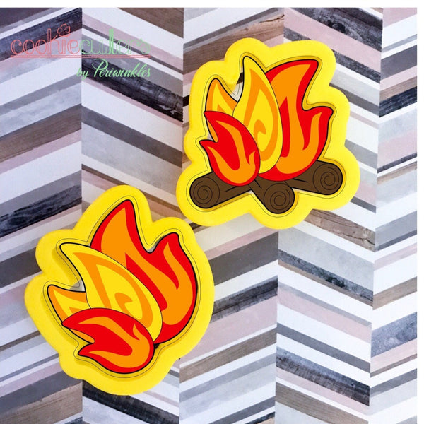 Bonfire Cookie Cutter - Periwinkles Cutters LLC
