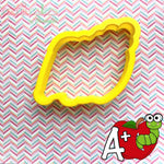 Apple Book Worm Cookie Cutter - Periwinkles Cutters LLC