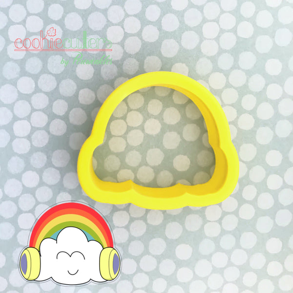 Rainbow Headphones Cookie Cutter