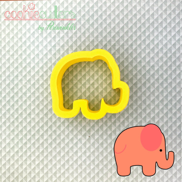 Elephant Cookie Cutter - Periwinkles Cutters LLC