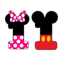 Minnie and Mickey Mouse Numbers Cookie Cutter - Periwinkles Cutters LLC