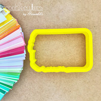Floral Rectangle Frame Cookie Cutter - Periwinkles Cutters LLC