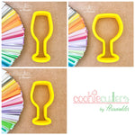 Wine Glasses Cookie Cutter - Periwinkles Cutters LLC