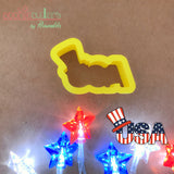 USA Sign Cookie Cutter