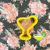 Margarita Glass Cookie Cutter - Periwinkles Cutters LLC