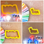 USA Sign Cookie Cutter - Periwinkles Cutters LLC