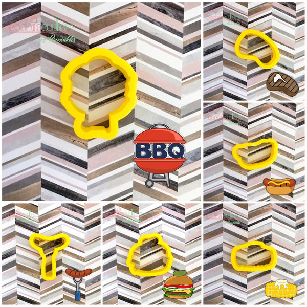 BBQ Set Cookie Cutter - Periwinkles Cutters LLC