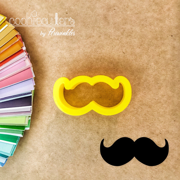 Mustache Cookie Cutter - Periwinkles Cutters LLC