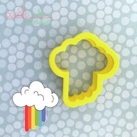 Rainbow Rain Cookie Cutter - Periwinkles Cutters LLC