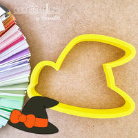 Witch Hat with Bow Cookie Cutter - Periwinkles Cutters LLC