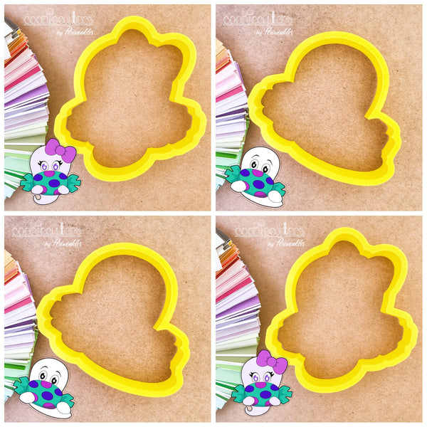 Candy Ghost Cookie Cutter - Periwinkles Cutters LLC