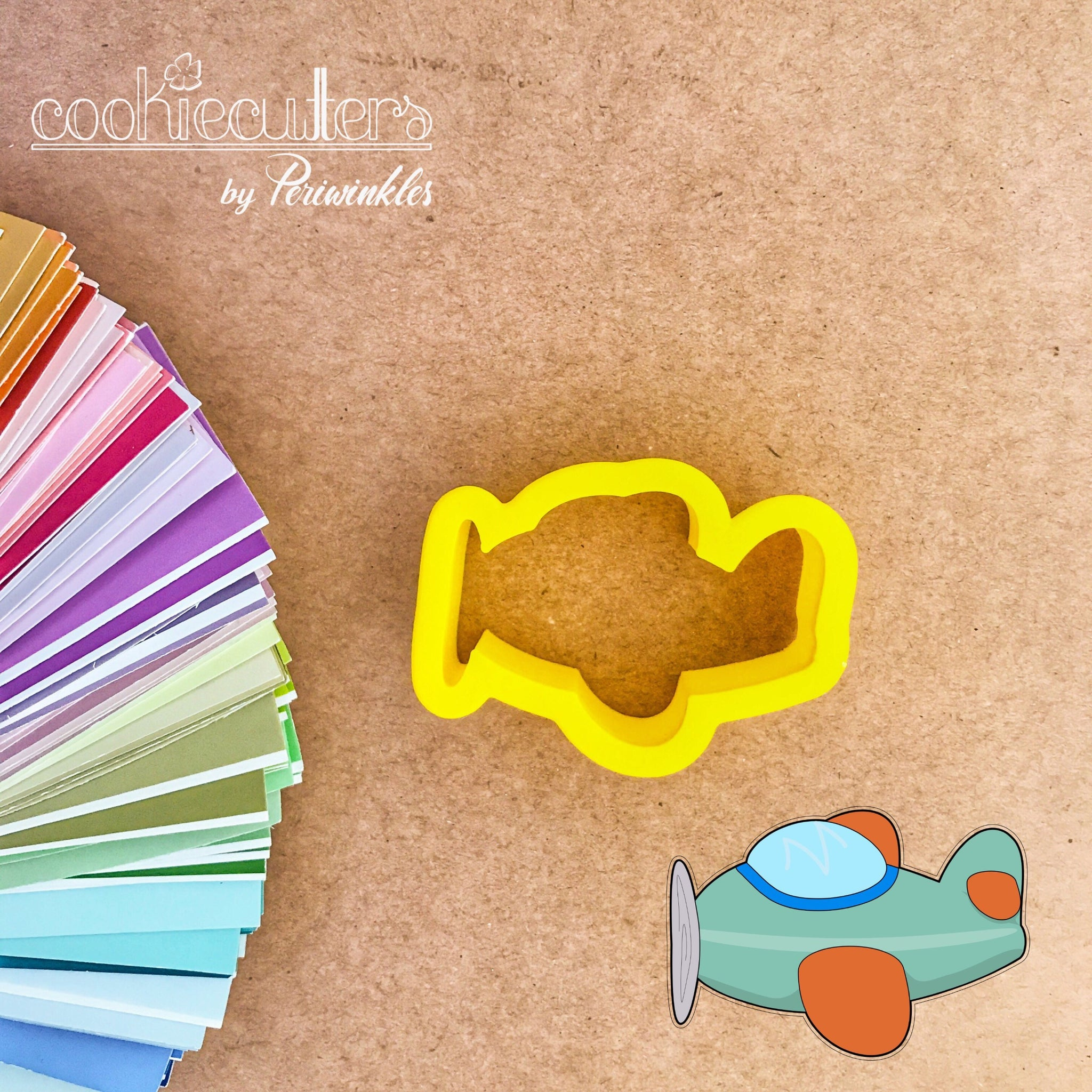 Airplane Cookie Cutter - Periwinkles Cutters LLC