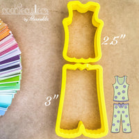 Pajamas Cookie Cutter - Periwinkles Cutters LLC