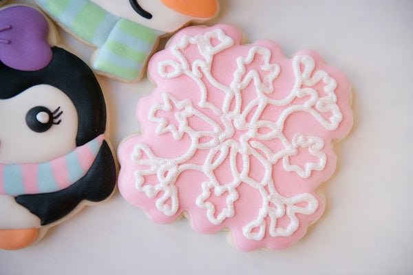 Miranda Plaque Cookie Cutter (Snowflake) - Periwinkles Cutters LLC