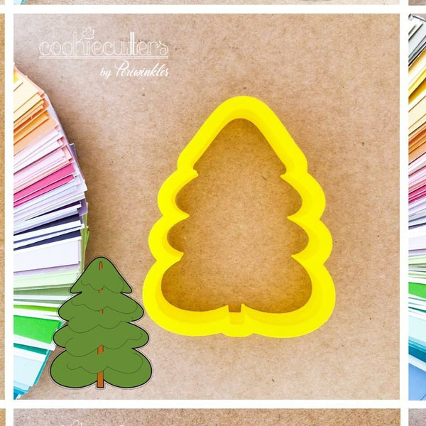 Tree Cookie Cutter - Periwinkles Cutters LLC