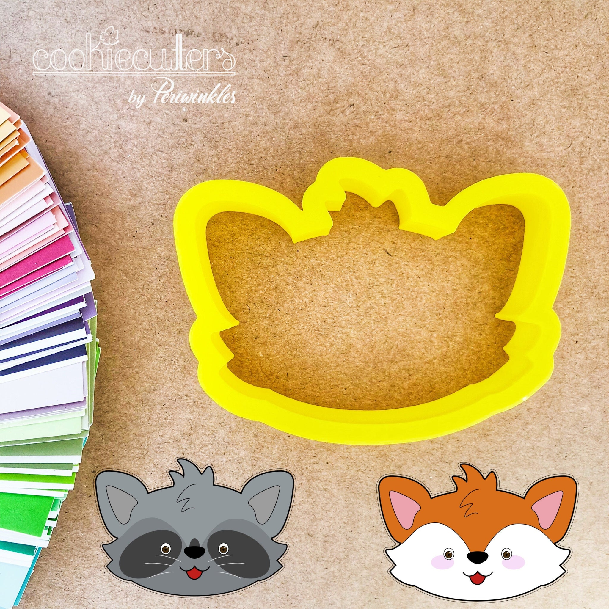 Fox - Raccoon Cookie Cutter - Periwinkles Cutters LLC