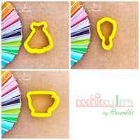Princess Mirror Cookie Cutter - Periwinkles Cutters LLC
