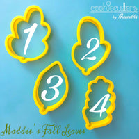 Maddie's Fall Leaves Cookie Cutter - Periwinkles Cutters LLC