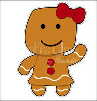 Gingerbread Girl and Boy Cookie Cutter - Mummy Cookie Cutters - Halloween Mummy Cookie Cutter - Christmas Gingy Cookie Cutter