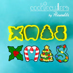 XMAS Letters MINI Cookie Cutter - Periwinkles Cutters LLC