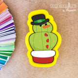 Snow Man Cactus Cookie Cutter - Periwinkles Cutters LLC