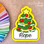 Christmas Tree with Banner Cookie Cutter - Periwinkles Cutters LLC