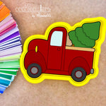 Truck with Tree Cookie Cutter