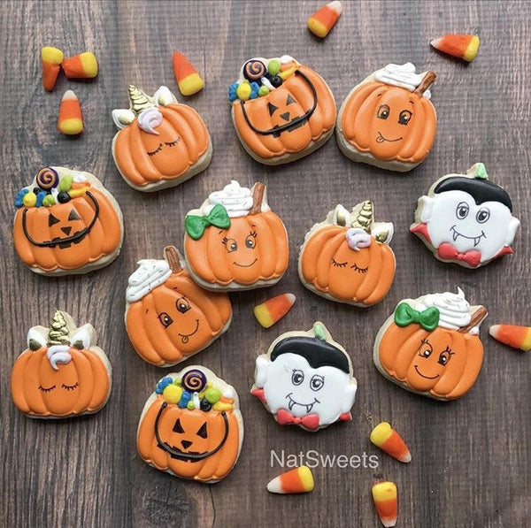 Pumpkin Dracula Cookie Cutter - Periwinkles Cutters LLC