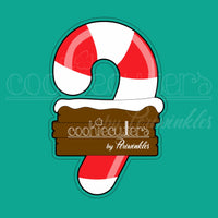 Candy Cane Plaque Cookie Cutter - Periwinkles Cutters LLC