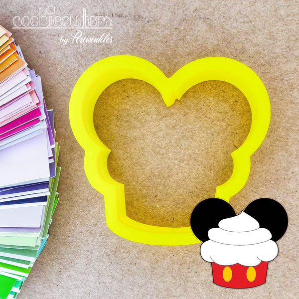 Minnie and Mickey Mouse Cupcake Cookie Cutter - Periwinkles Cutters LLC