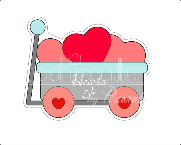 Love Wagon Cookie Cutter - Periwinkles Cutters LLC