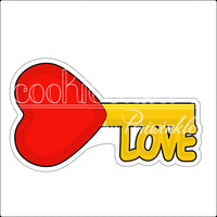 Love Lock Heart and Key Cookie Cutter - Periwinkles Cutters LLC