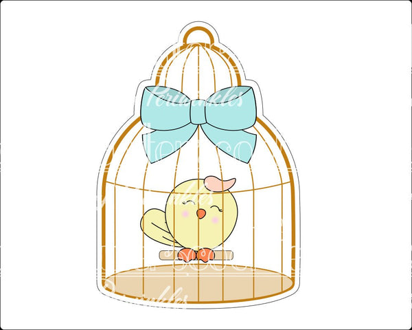 Bird Cage Cookie Cutter - Periwinkles Cutters LLC