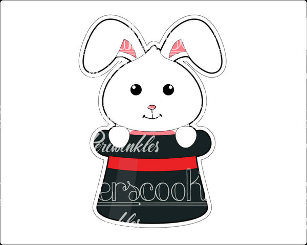 Bunny in a Hat Cookie Cutter - Periwinkles Cutters LLC