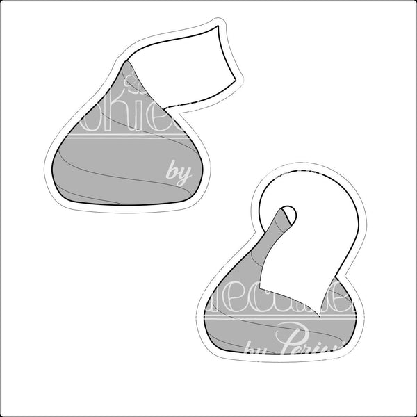 Hershey Kisses Cookie Cutter - Periwinkles Cutters LLC