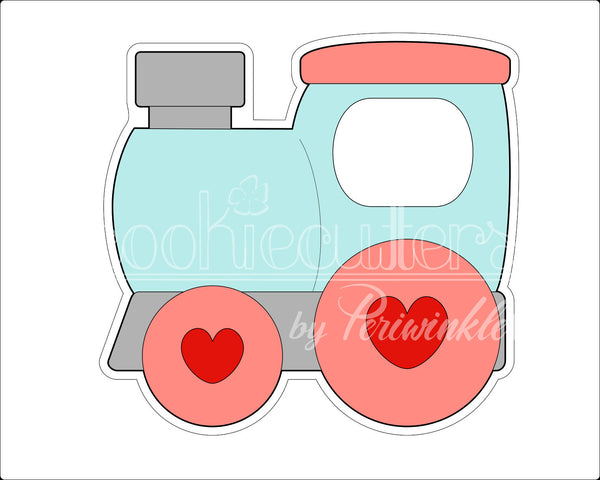 Locomotive Cookie Cutter - Periwinkles Cutters LLC
