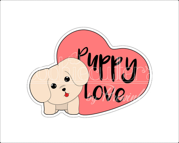 Puppy Love Cookie Cutter - Periwinkles Cutters LLC