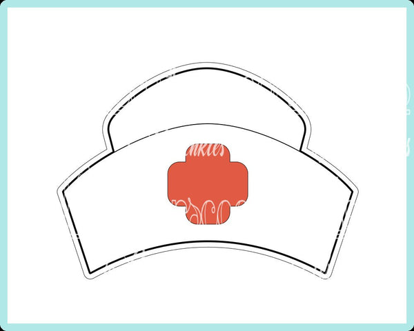 Nurse's Hat Cookie Cutter - Periwinkles Cutters LLC