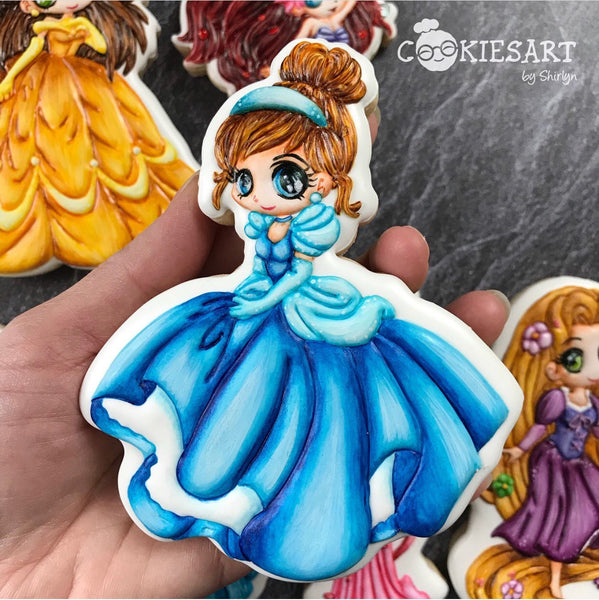 Princess Chibis Cookie Cutter - Periwinkles Cutters LLC