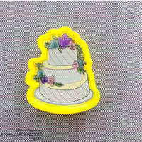 Floral Wedding Cake Cookie Cutter - Periwinkles Cutters LLC