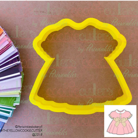 Baby Girl Baptism Outfit Cookie Cutter - Periwinkles Cutters LLC