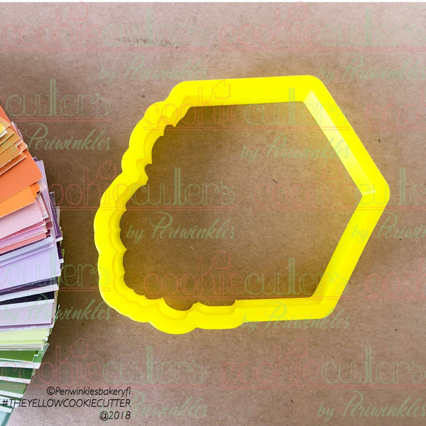 Floral Hexagon Cookie Cutter - Periwinkles Cutters LLC