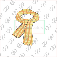 Scarf Cookie Cutter - Periwinkles Cutters LLC