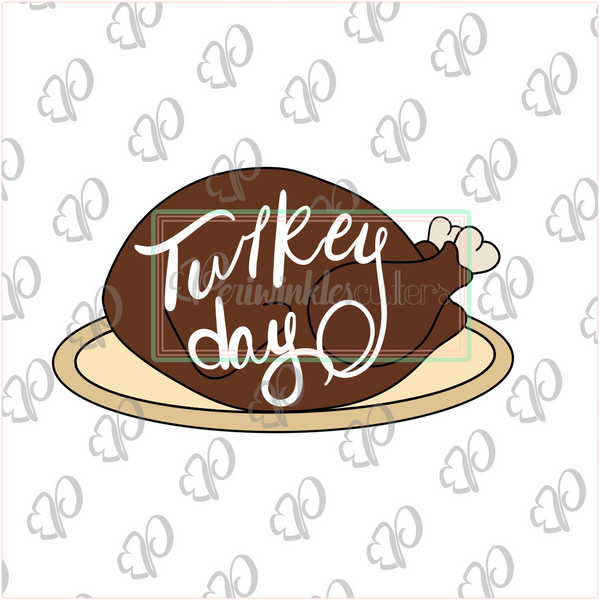 Roasted Turkey Cookie Cutter - Periwinkles Cutters LLC